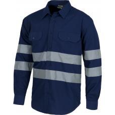 Camisa de manga comprida com fitas refletoras