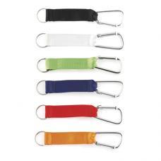Porta-chaves com fita e mosquetão