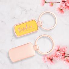 Porta-chaves em metal, detalhe colorido - Rosie