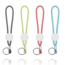 Porta-chaves tubular com ajuste e argola