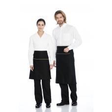 Camisa homem em cambraia poliéster-algodão de manga curta branca
