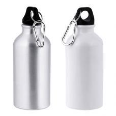 Garrafa em alumínio, 400 ml para sublimação com mosquetão