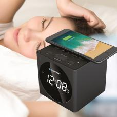 Relógio despertador com carregador wireless - Wake Up