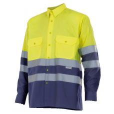 Camisa Bicolor de Alta Visibilidade Manga Comprida