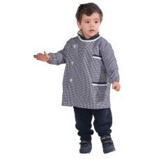 Bata rapaz em xadrez poliéster-algodão