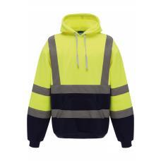 Sweatshirt com capuz de alta visibilidade