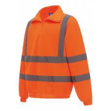 Sweatshirt de meio fecho de alta visibilidade