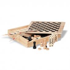 4 jogos em caixa de madeira - Trikes