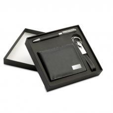 Conjunto com Carteira, Porta-Chaves e Esferográfica - Eleganci