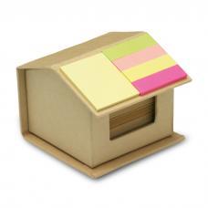 Casa de cartão com 300 coloridas notas adesivas - Recyclopad
