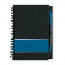 Caderno papel listado