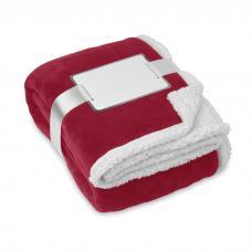 Cobertor de lã coral com forro Sherpa
