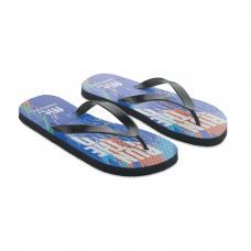 chinelos de praia confortáveis de sublimação com alças de PVC - DO MEL