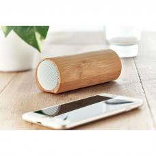 Alto-falante estéreo sem fio 5.0 em ABS com caixa de madeira de bambu - SPEAKBOX