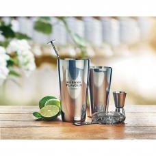 Conjunto cocktail de aço inoxidável com shaker de 750 ml - BOSTON
