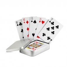 Jogo de cartas caixa metal