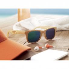Óculos de sol clássicos em PC com acabamento em madeira - WOODIE