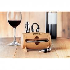 Suporte de madeira e set com 4 acessórios de vinho - BOTA