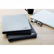 Porta-documentos mesclado A4 em poliéster com fecho - NOTES FOLDER