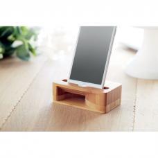 Suporte smartphone e amplificador em bambu - Caracol