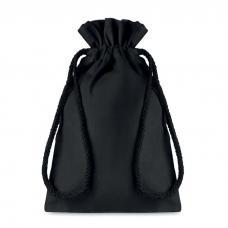 Saco de algodão pequeno de presente, preto com cordão - Taske Small