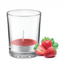 Vela pequena perfumada em vidro transparente - Transparent