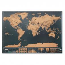 Mapa mundi para raspar em papel cromado - Been There