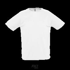 T-shirt com Manga Raglã - Sol's Sporty Branco