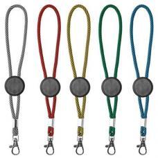 Porta-chaves tubular com ajuste e mosquetão