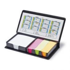 Porta notas em PVC com notas adesivas e calendário