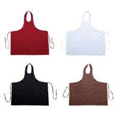 Avental com 2 bolsos ajustável no pescoço 100% algodão
