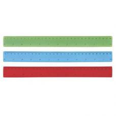 Régua flexível em PVC, com escala impressa 30cm